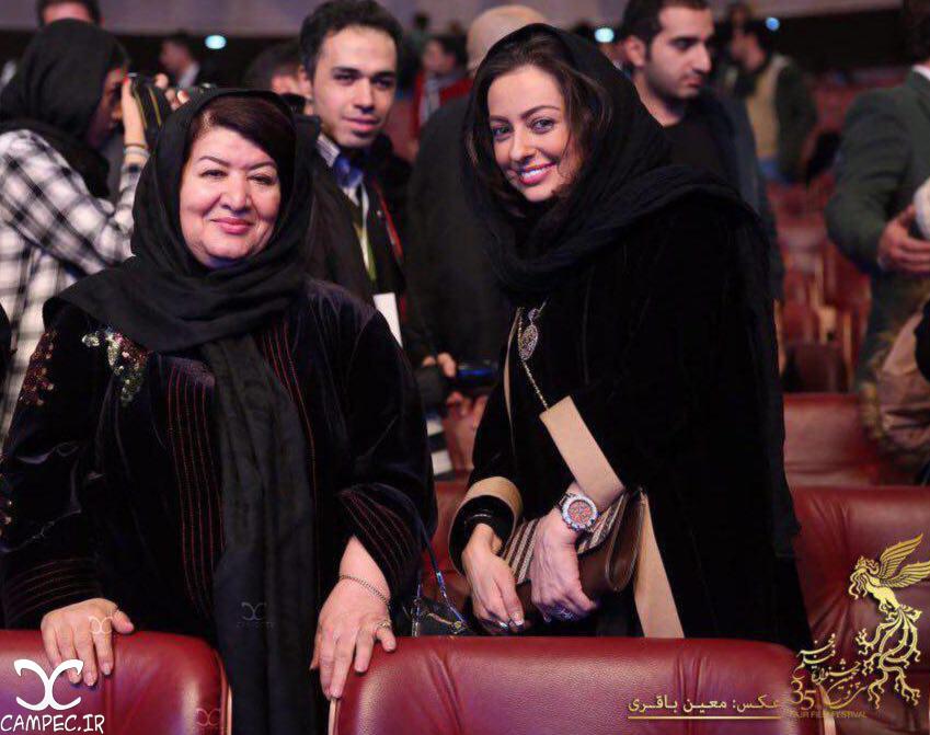 نفیسه روشن و پوریان درخشنده در افتتاحیه جشنواره 35 فیلم فجر