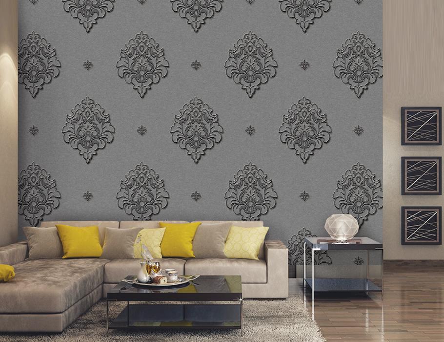 کاغذ دیواری داماسک کلاسیک image