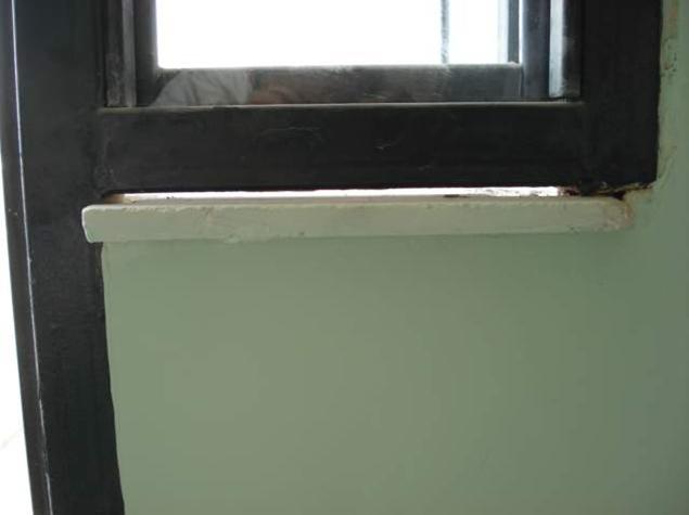 عدم آببندی سنگ کف پنجره