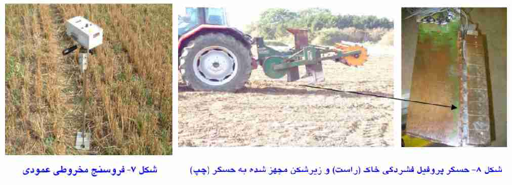 فروسنج مخروطی عمودی و حسگر پروفیل فشردگی خاک