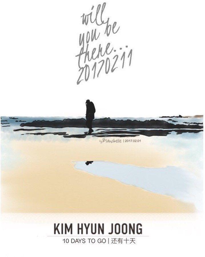 [blancbelle fanart] Kim Hyun Joong - 10 Days to go [2017.02.01]