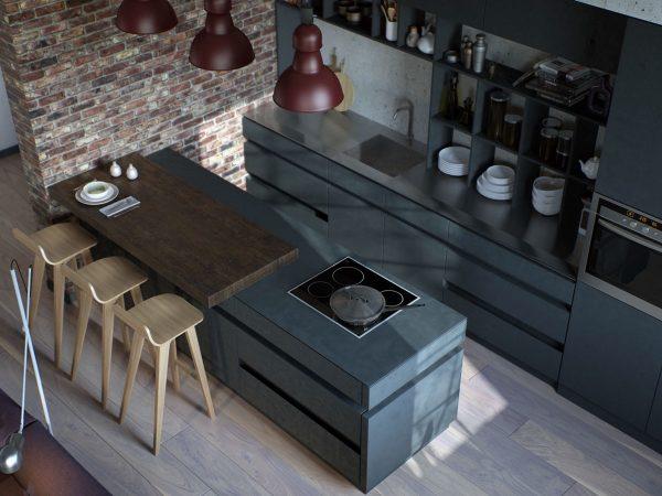 آشپزخانه به سبک صنعتی2