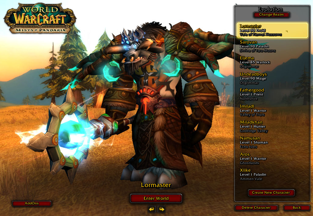 فروش هیرو Druid - Lormaster - سرور WowZone