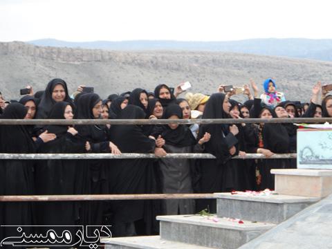 تشییع شهید گمنام در نورآبادممسنی