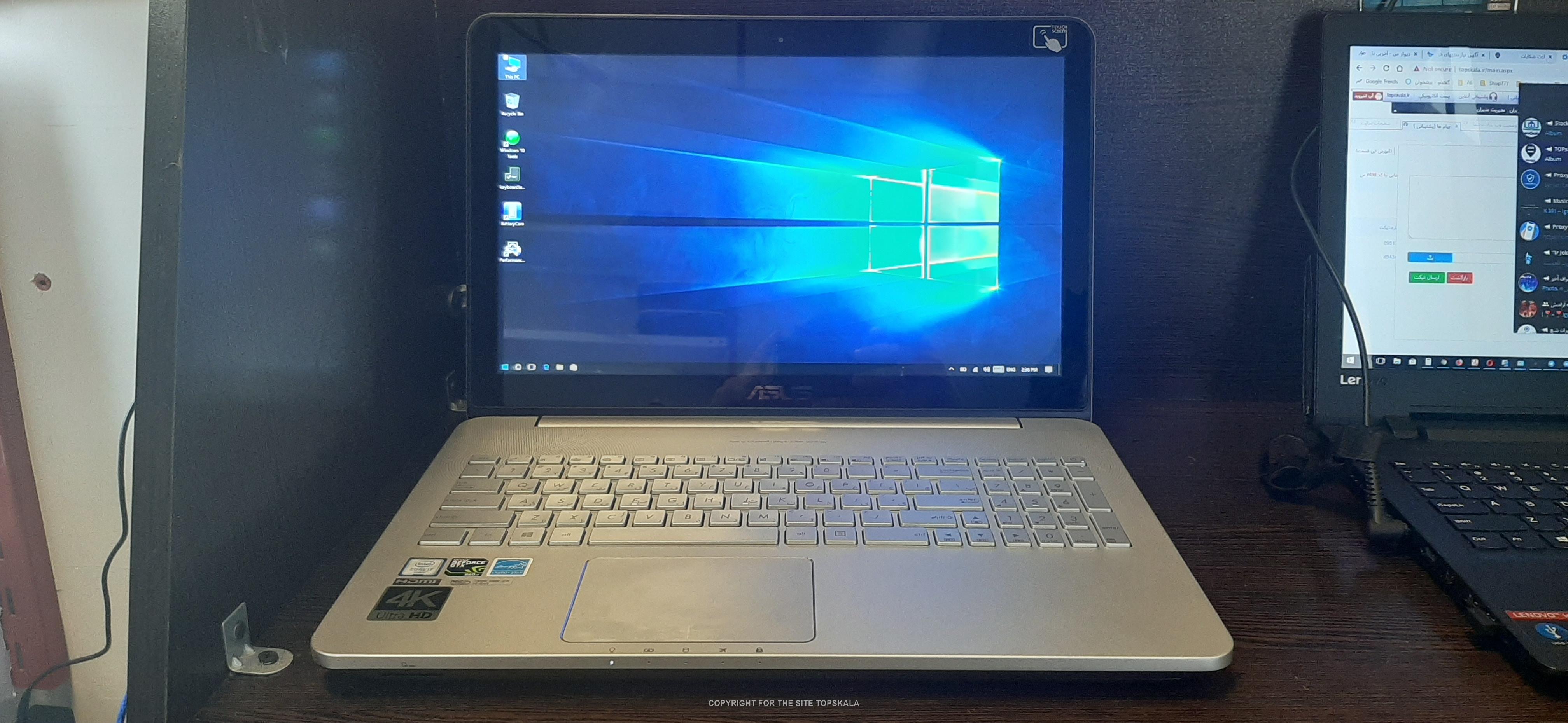 لپ تاپ استوک ایسوس مدل N552VW با مشخصات i7-16GB-128GB-SSD-1TB-HDD-4GB 1050ti