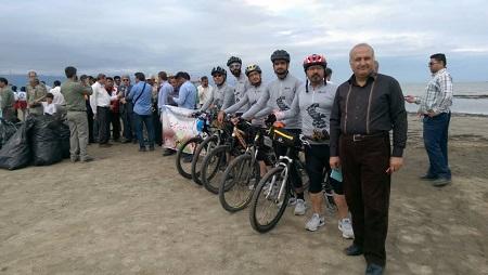 رکابزنی از بندر ترکمن تا بندر آستارا در حمایت از محیطزیست