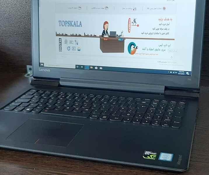 لپ تاپ استوک لنوو مدل Lenovo iDeaPad 700 با مشخصات i7-6gen-16GB-256GB-SSD-1TB-HDD-4GB-nVIDIA-GTX-950M