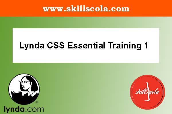 Lynda CSS Essential Training 1 - Free Tutorials Download
