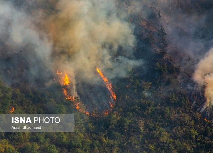 آتش جنگل آذربایجان