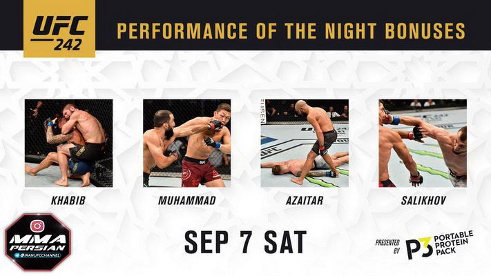 نتایج رویداد :  UFC 242: Khabib vs. Poirier