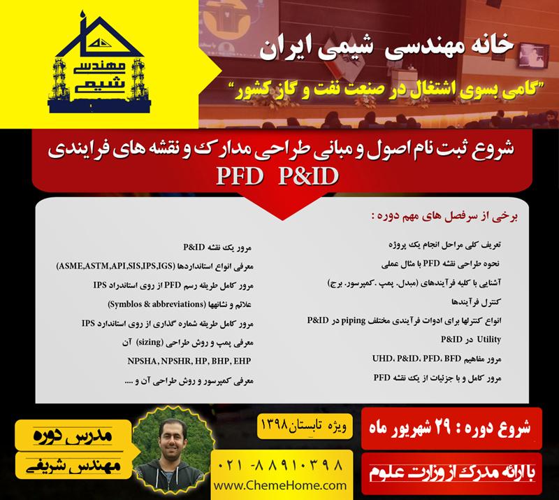 کتاب Pfd p&ID خانه مهندسی شیمی ایران