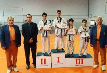 آستارا قهرمان مسابقات هفت جانبه تکواندوی غرب گیلان