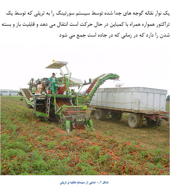 دانلود رایگان مقاله بررسی دستگاه و کمباین برداشت گوجه فرنگی در مزرعه (word) طراحی دستگاه برداشت گوجه