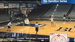 Butler's Brad Stevens works GREAT shooting DRILL using Gun shooting machine
