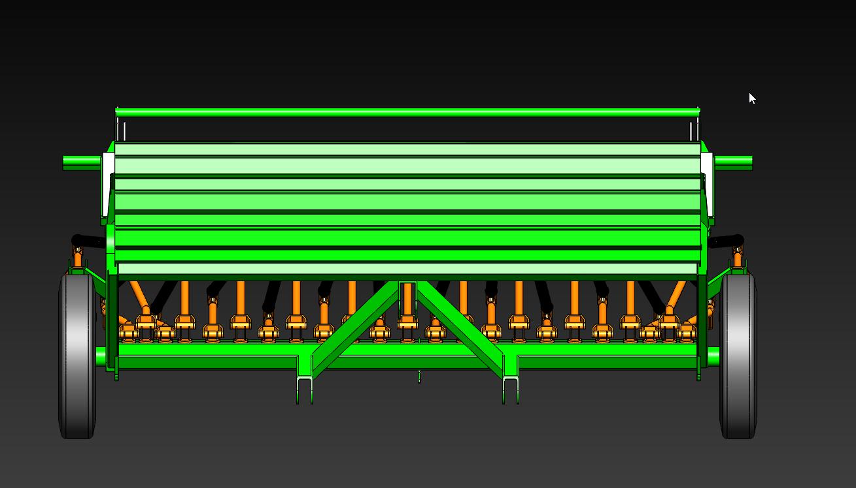 فایل ماشین آلات کشاورزی- ماشین آلات کاشت- خاکورزی ثانویه . طراحی خطی کار در نرم افزار سالیدورک solidwork
