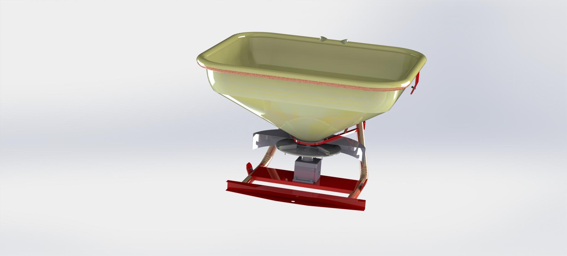 دانلود پروژه طراحی شده کودپاش بذرپاش در نرم افزار کتیا ( catia )   تلماتو