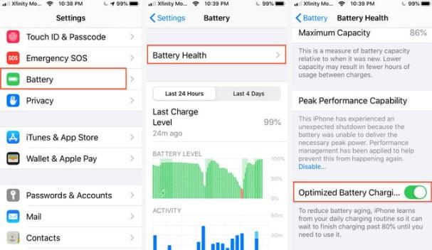 ویژگی مخفی در iOS 13 /  Optimized Battery Charging