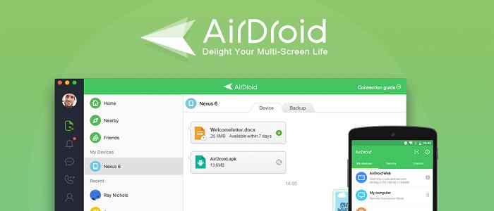 دانلود AirDroid 4.2.5.5 ایردروید مدیریت گوشی با کامپیوتر برای اندروید 4